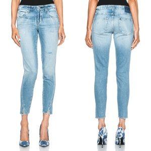AMO Twist Hem Slim Cropped 'Sweet Cheeks' Jeans